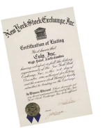 NYSE-Certificate